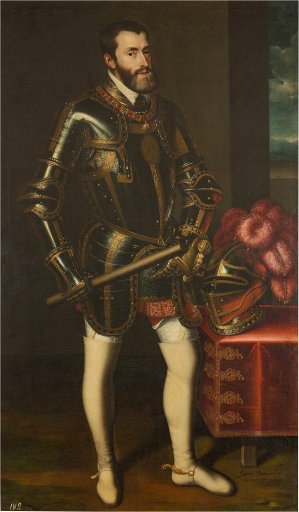 Cuadro de Carlos V, museo del Prado. Obra de Juan Pantoja de la Cruz