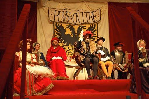 Carlos V presidiendo una fiesta en su honor en Bruselas, Ommegang