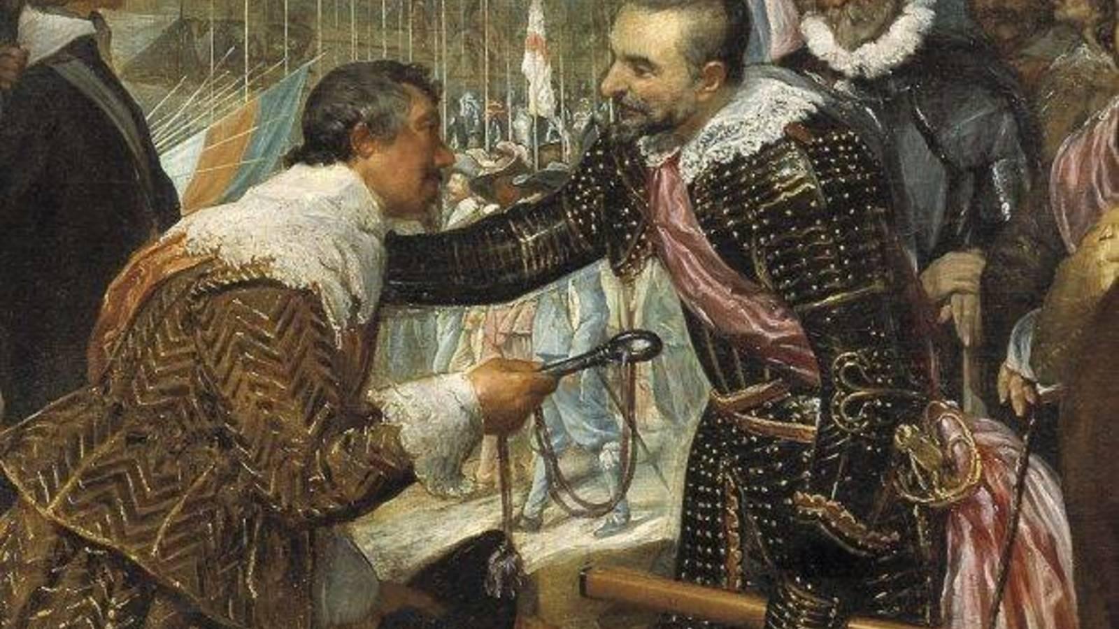Ambrosio Spinola recogiendo las llaves de la ciudad de Breda